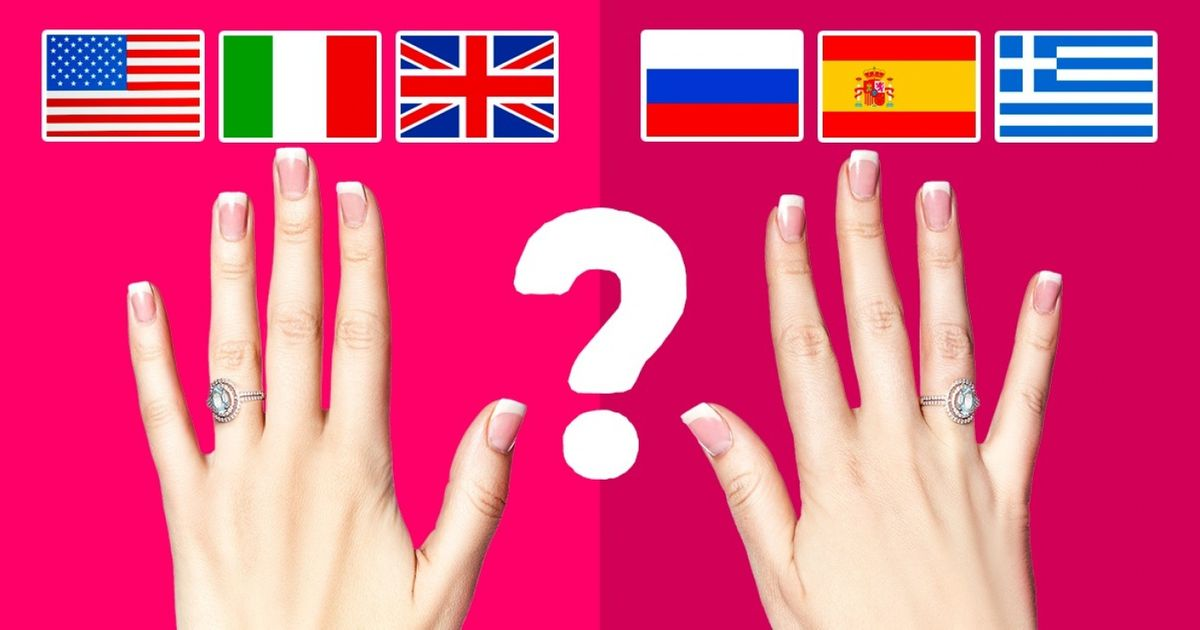 Pourquoi, selon les pays, les gens portent leur alliance àlamain gauche ouàlamain droite ?