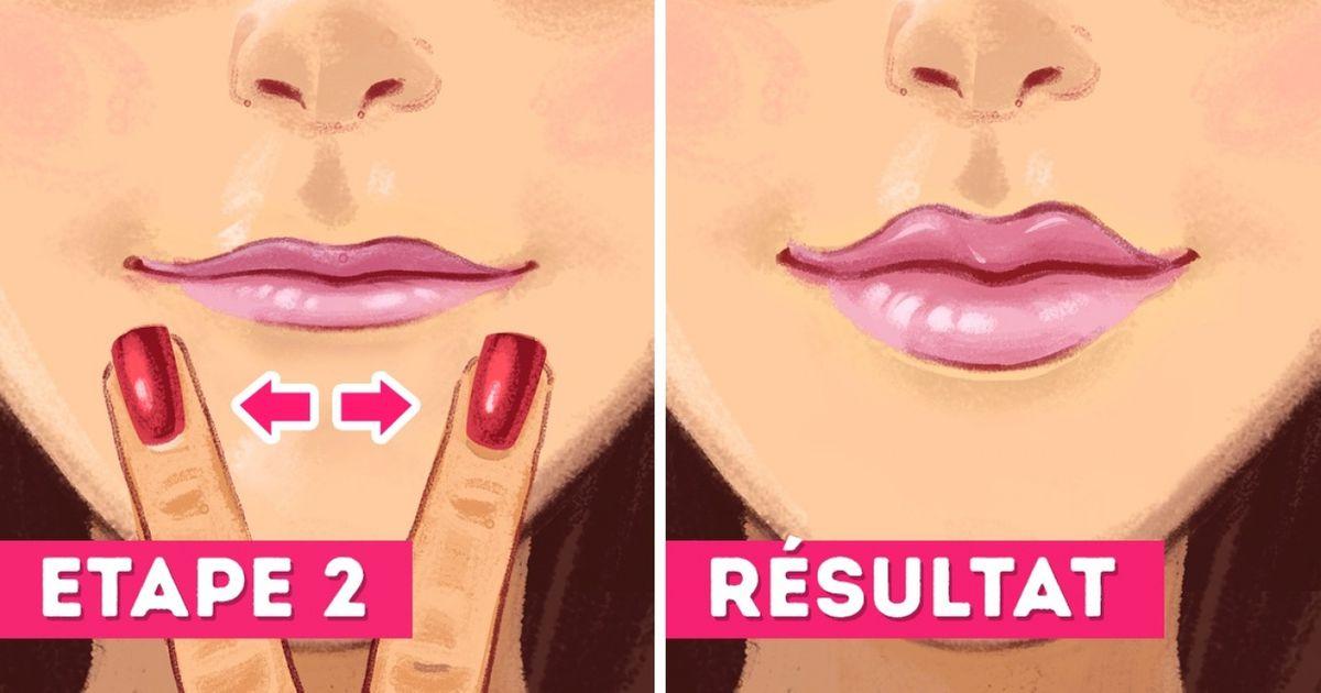 Comment faire pour que tes lèvres aient l'air plus pulpeuses sans utiliser aucun produit chimique