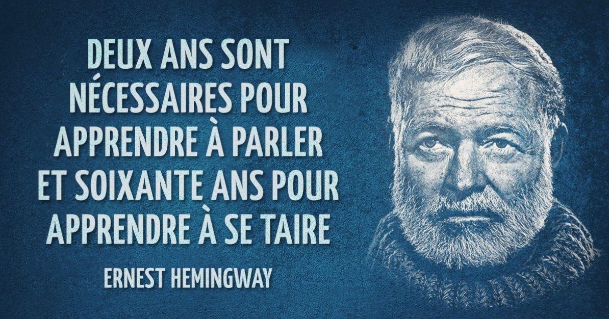30Phrases célèbres d'Ernest Hemingway