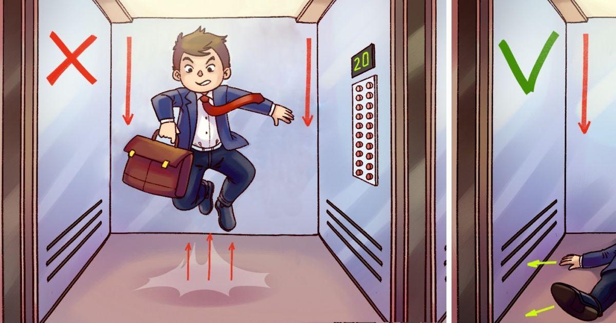 Comment survivre àune chute d'ascenseur