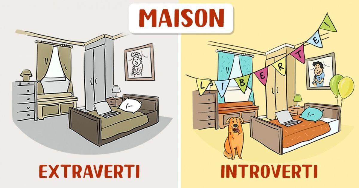 12BD qui montrent comment les personnes extraverties etintroverties voient lemonde