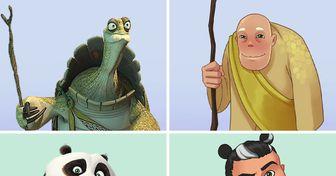 """Nous avons voulu voir à quoi ressembleraient les personnages de """"Kung Fu Panda"""" en tant qu'humains et voici les résultats"""