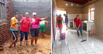 Une Bolivienne construit des maisons avec des bouteilles pour aider les familles dans le besoin tout en recyclant le plastique