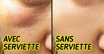Voici pourquoi tu devrais éviter d'utiliser une serviette pour te sécher le visage