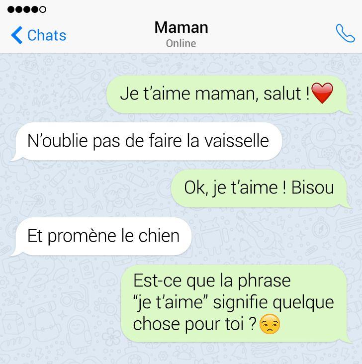 17 Conversations par SMS de parents qui adorent le sarcasme