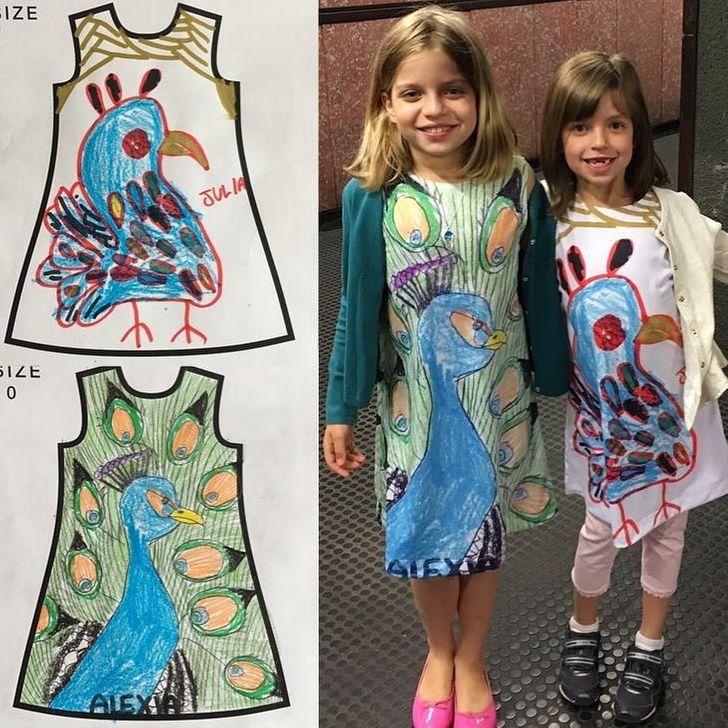 Une entreprise transforme les œuvres d'art des enfants en vêtements (tes enfants peuvent fabriquer les leurs aussi)