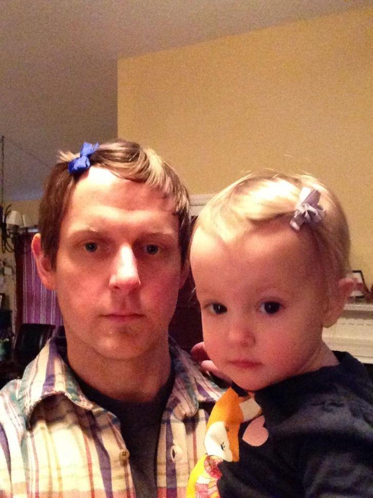 17 Photos qui prouvent qu'être parent n'est pas une mince affaire