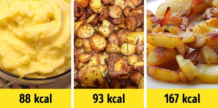 Comment varie le contenu calorique des aliments en fonction du mode de préparation ?